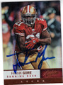 FRANK GORE SAN FRANCISCO 49ers AUTOGRAPHED FOOTBALL CARD #41714E