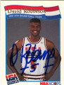 DAVID ROBINSON TEAM USA AUTOGRAPHED BASKETBALL CARD #41714L