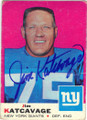 JIM KATCAVAGE NEW YORK GIANTS AUTOGRAPHED VINTAGE FOOTBALL CARD #41714M