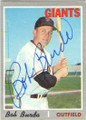 BOB BURDA SAN FRANCISCO GIANTS AUTOGRAPHED VINTAGE BASEBALL CARD #42114D
