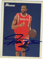 TRACY McGRADY HOUSTON ROCKETS AUTOGRAPHED BASKETBALL CARD #42214i