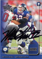 MICHAEL STRAHAN NEW YORK GIANTS AUTOGRAPHED FOOTBALL CARD #42214N