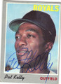 PAT KELLY KANSAS CITY ROYALS AUTOGRAPHED VINTAGE BASEBALL CARD #42314B