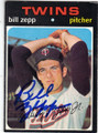 BILL ZEPP MINNESOTA TWINS AUTOGRAPHED VINTAGE BASEBALL CARD #42314C