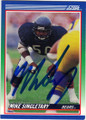 MIKE SINGLETARY CHICAGO BEARS AUTOGRAPHED FOOTBALL CARD #42314G