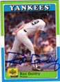 RON GUIDRY NEW YORK YANKEES AUTOGRAPHED BASEBALL CARD #42314J