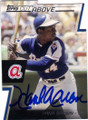 HANK AARON ATLANTA BRAVES AUTOGRAPHED BASEBALL CARD #42514i