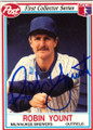 ROBIN YOUNT MILWAUKEE BREWERS AUTOGRAPHED FOOTBALL CARD #42614B