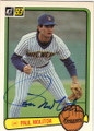 PAUL MOLITOR MILWAUKEE BREWERS AUTOGRAPHED VINTAGE BASEBALL CARD #42614G