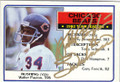 WALTER PAYTON CHICAGO BEARS AUTOGRAPHED VINTAGE FOOTBALL CARD #42614H