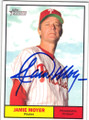 JAMIE MOYER PHILADELPHIA PHILLIES AUTOGRAPHED BASEBALL CARD #42814J