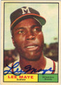 LEE MAYE MILWAUKEE BRAVES AUTOGRAPHED VINTAGE BASEBALL CARD #42814N