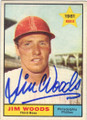 JIM WOODS PHILADELPHIA PHILLIES AUTOGRAPHED VINTAGE BASEBALL CARD #42914A