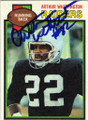 ARTHUR WHITTINGTON OAKLAND RAIDERS AUTOGRAPHED VINTAGE ROOKIE FOOTBALL CARD #42914B