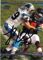 LUKE KUECHLY CAROLINA PANTHERS AUTOGRAPHED FOOTBALL CARD #42914J