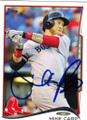 MIKE CARP BOSTON RED SOX AUTOGRAPHED BASEBALL CARD #42914R