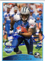 STEVE SMITH CAROLINA PANTHERS AUTOGRAPHED FOOTBALL CARD #43014B