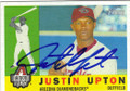 JUSTIN UPTON ARIZONA DIAMONDBACKS AUTOGRAPHED BASEBALL CARD #43014G
