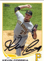 KEVIN CORREIA PITTSBURGH PIRATES AUTOGRAPHED BASEBALL CARD #43014i
