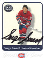 SERGE SAVARD MONTREAL CANADIENS AUTOGRAPHED HOCKEY CARD #50114D