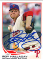 ROY HALLADAY PHILADELPHIA PHILLIES AUTOGRAPHED BASEBALL CARD #50114E
