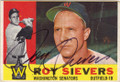 ROY SIEVERS WASHINGTON SENATORS AUTOGRAPHED VINTAGE BASEBALL CARD #50214F