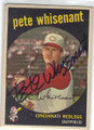 PETE WHISENANT CINCINNATI REDLEGS AUTOGRAPHED VINTAGE BASEBALL CARD #50214i