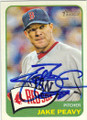 JAKE PEAVY BOSTON RED SOX AUTOGRAPHED BASEBALL CARD #50314P