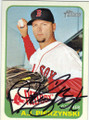 A J PIERZYNSKI BOSTON RED SOX AUTOGRAPHED BASEBALL CARD #50414A
