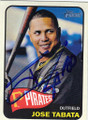 JOSE TABATA PITTSBURGH PIRATES AUTOGRAPHED BASEBALL CARD #50414E