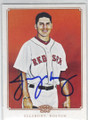 JACOBY ELLSBURY BOSTON RED SOX AUTOGRAPHED BASEBALL CARD #50414F
