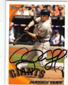 AUBREY HUFF SAN FRANCISCO GIANTS AUTOGRAPHED BASEBALL CARD #50414H