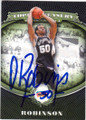 DAVID ROBINSON SAN ANTONIO SPURS AUTOGRAPHED BASKETBALL CARD #50414L