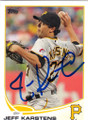 JEFF KARSTENS PITTSBURGH PIRATES AUTOGRAPHED BASEBALL CARD #50414N