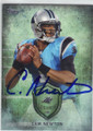 CAM NEWTON CAROLINA PANTHERS AUTOGRAPHED FOOTBALL CARD #50414O