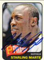 STARLING MARTE PITTSBURGH PIRATES AUTOGRAPHED BASEBALL CARD #50514A