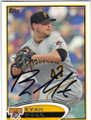 EVAN MEEK PITTSBURGH PIRATES AUTOGRAPHED BASEBALL CARD #50514E