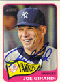 JOE GIRARDI NEW YORK YANKEES AUTOGRAPHED BASEBALL CARD #50514G