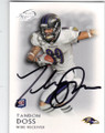 TANDON DOSS BALTIMORE RAVENS AUTOGRAPHED ROOKIE FOOTBALL CARD #50514L