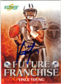 VINCE YOUNG TENNESSEE TITANS AUTOGRAPHED FOOTBALL CARD #50514R