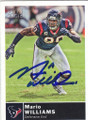 MARIO WILLIAMS HOUSTON TEXANS AUTOGRAPHED FOOTBALL CARD #50614A