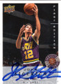 JOHN STOCKTON UTAH JAZZ AUTOGRAPHED BASKETBALL CARD #50614C