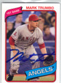 MARK TRUMBO LOS ANGELES ANGELS OF ANAHEIM AUTOGRAPHED BASEBALL CARD #50614F