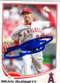 SEAN BURNETT LOS ANGELES ANGELS OF ANAHEIM AUTOGRAPHED BASEBALL CARD #50614i