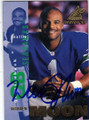 WARREN MOON SEATTLE SEAHAWKS AUTOGRAPHED FOOTBALL CARD #50614J