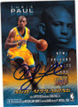 CHRIS PAUL NEW ORLEANS HORNETS AUTOGRAPHED BASKETBALL CARD #50614N