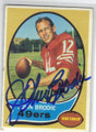JOHN BRODIE SAN FRANCISCO 49ers AUTOGRAPHED VINTAGE FOOTBALL CARD #50614Q