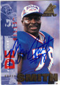 BRUCE SMITH BUFFALO BILLS AUTOGRAPHED FOOTBALL CARD #50714F