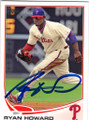 RYAN HOWARD PHILADELPHIA PHILLIES AUTOGRAPHED BASEBALL CARD #50714i