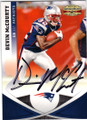 DEVIN McCOURTY NEW ENGLAND PATRIOTS AUTOGRAPHED FOOTBALL CARD #50914N